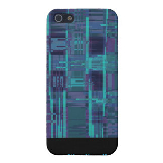 Elegant blue abstract striped cases for iPhone 5