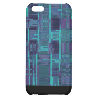 Elegant blue abstract striped iPhone 5C cover