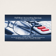 Elegant Blue Accounting Business Card at Zazzle