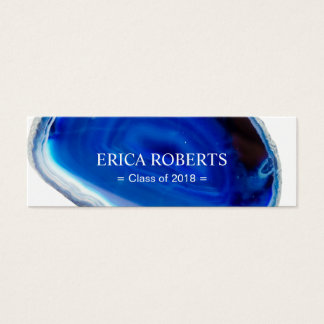 Elegant Blue Agate Graduation Name Insert