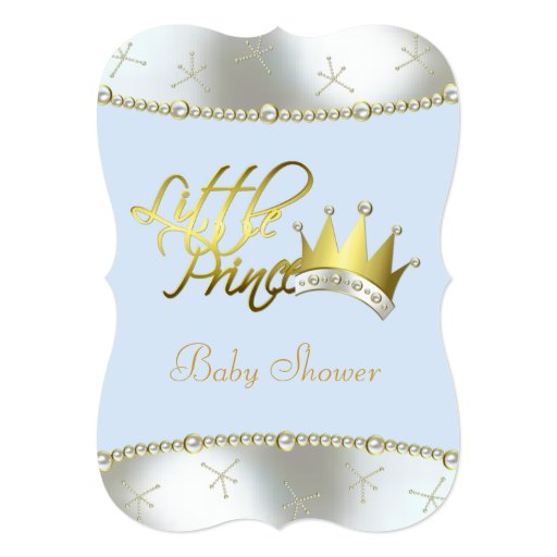 elegant blue and gold little prince baby shower invitation zazzle