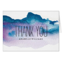 Elegant Blue and Purple Watercolor Wash Card