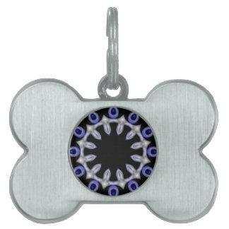 Elegant Blue and White II Pet ID Tag