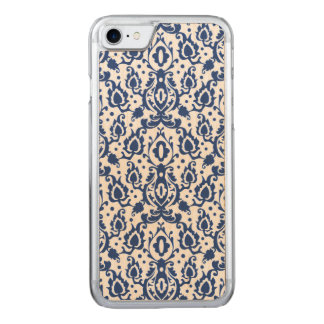 Elegant Blue and White Moroccan Style Damask Carved iPhone 8/7 Case