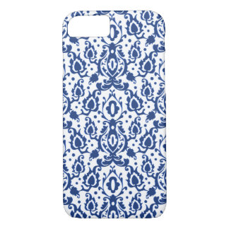 Elegant Blue and White Moroccan Style Damask iPhone 8/7 Case