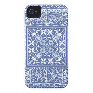 Elegant Blue and White Renaissance Pattern iPhone 4 Cases