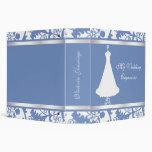 Elegant Blue and White Wedding Planner Binder