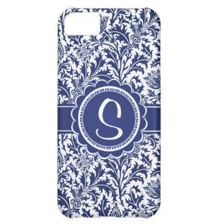 Elegant Blue and White William Morris Floral iPhone 5C Cases