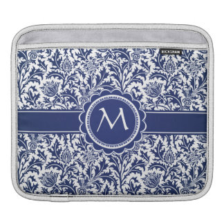 Elegant Blue and White William Morris Floral Sleeve For iPads