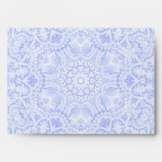 Elegant Blue Baroque Lace Envelope