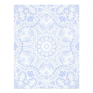 Elegant Blue Baroque Lace Letterhead