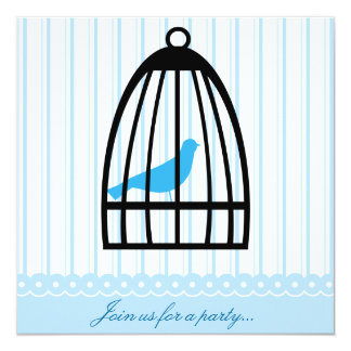 Elegant Blue Bird Party Invitation