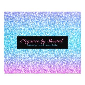 Elegant Blue & Black Glitter Flyer
