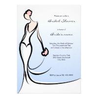 Elegant Blue Bridal Shower Invitations