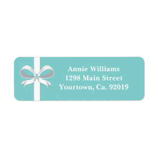 Elegant Blue Bridal Shower Return Address Label