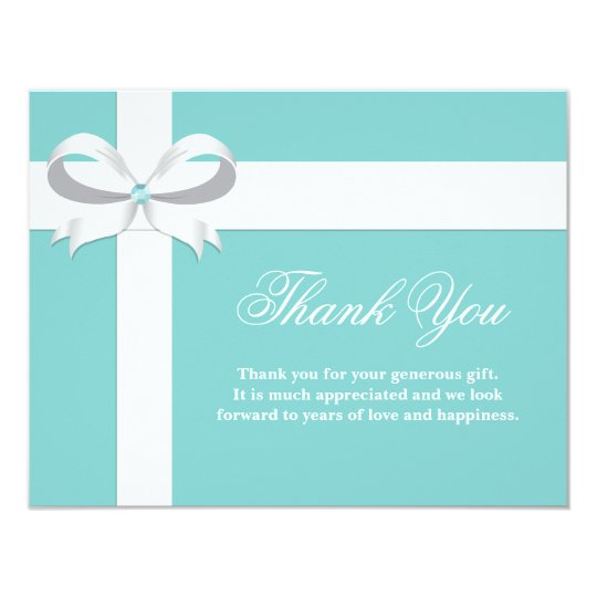 Elegant Blue Bridal Shower Thank You Card | Zazzle