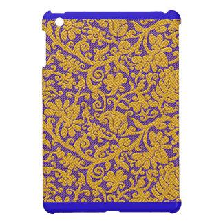 Elegant Blue Brocade Designer iPad Mini Cases