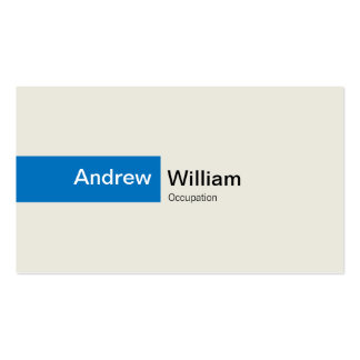 Elegant Blue Double-Sided Standard Business Cards (Pack Of 100)