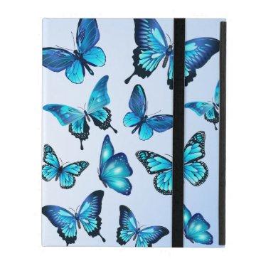 Elegant Blue Butterflies Powis iPad 2/3/4 iPad Case