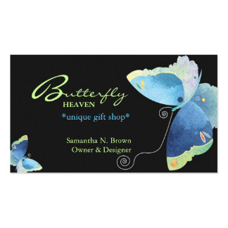 Elegant Blue Butterfly Personalized Business Card