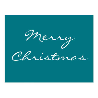 Elegant Blue Christmas Postcard