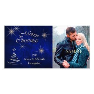 Elegant Blue Christmas Tree Card