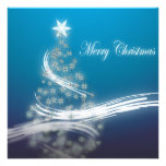 Elegant Blue Corporate Christmas Party Invitation