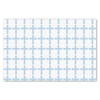 "Elegant Blue Cross 10"" X 15"" Tissue Paper"