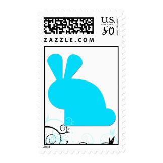 Elegant {Blue} Cute Bunny Postage