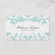 Elegant Blue Damask Business Cards - Groupon