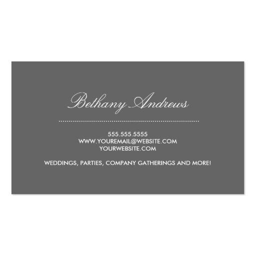 Elegant Blue Damask Business Cards - Groupon (back side)