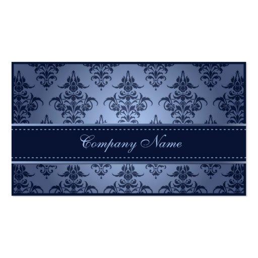 Elegant Blue Damask Wedding Planner Business Card Templates