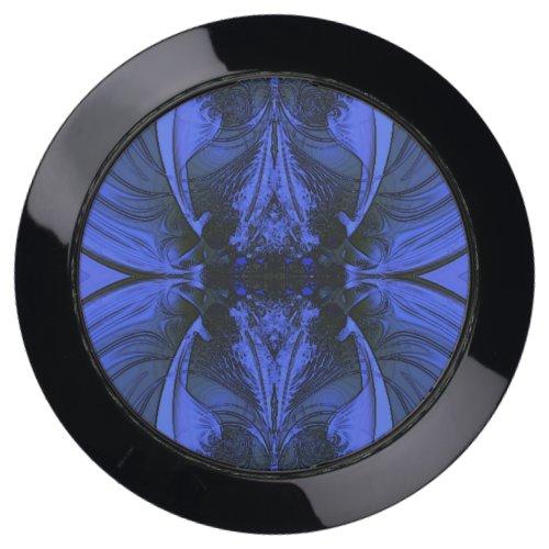 Elegant Blue Digital Design USB Charging Station