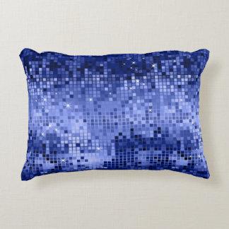 Elegant Blue Disco Ball Glitter & Sparkles Decorative Pillow
