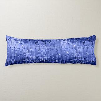 Elegant Blue Disco Glitter Retro Design Body Pillow
