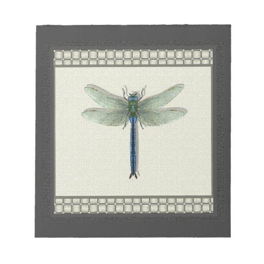 Elegant Blue Dragonfly Notepad