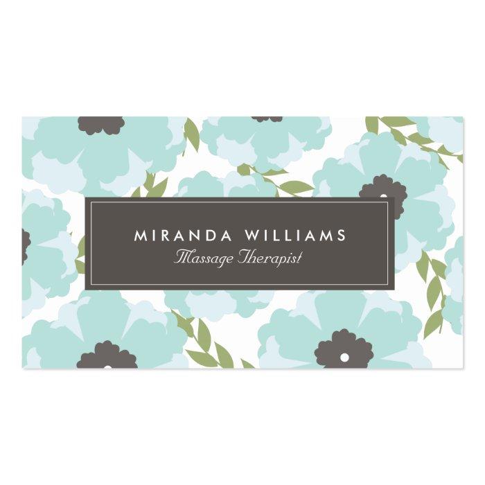 Elegant Blue Floral Business Cards Groupon