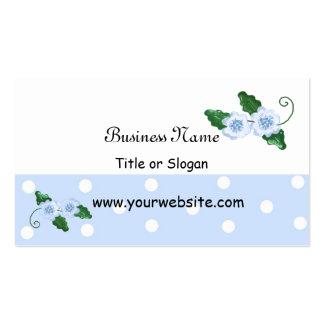 Elegant Blue Floral Design Business Card