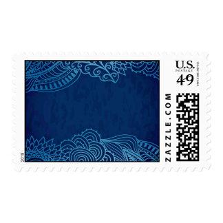 Elegant Blue floral design Postage
