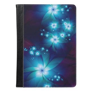 Elegant blue Fractal Flowers iPad Air Case
