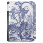Elegant Blue French Baroque Toile Kindle Case