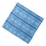 Elegant Blue Geometric With Stripe Bandana at Zazzle