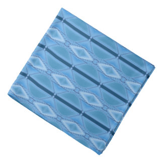 Elegant Blue Geometric with Stripe Bandana