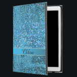 "Elegant Blue Glitter Monogram iPad Air Pro Case<br><div class=""desc"">Elegant Blue Glitter Monogram iPad Pro Case. Soft cyan blue sparkly print with a fancy monogram. Fill in your initial at the prompt to personalize and customize any way you like. #iPad</div>"
