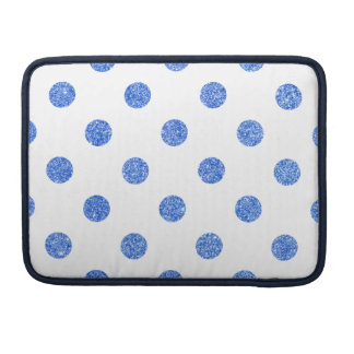 Elegant Blue Glitter Polka Dots Pattern Sleeve For MacBook Pro