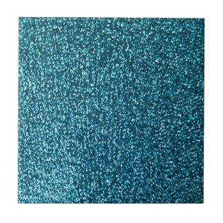 Elegant blue glitter tiles