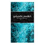 Elegant Blue-Green Glitter Metallic Sequence 2 Business Card Template