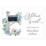 Elegant Blue Hydrangea Bridal Shower By Mail Postcard