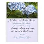 Elegant Blue Hydrangea Wedding Invitation