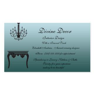 Elegant Blue Interior Design Business Card